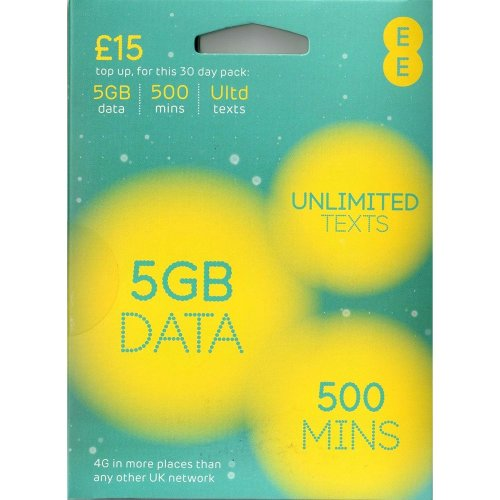 EE 4G £15 / 30 Day Top Up
