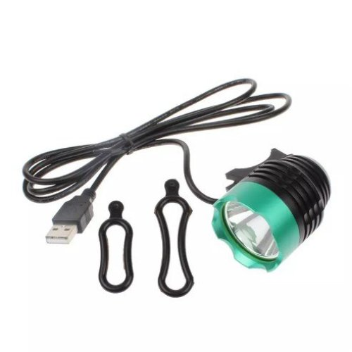USB Powered Waterproof 1200Lumen T6 LED Bicycle Front Light Headlamp - Silver