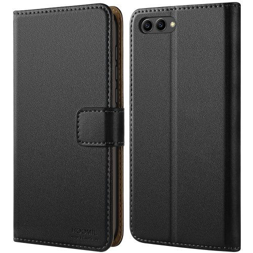 taglia 40 7c912 9a27f HOOMIL Honor View 10 Case Premium Leather Case for Huawei Honor View 10 /  Honor V10 Phone Cover (Black)
