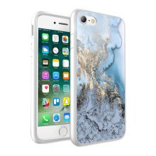 i-Tronixs - Blue & Gold Marble Design Printed Case Skin Cover - 059
