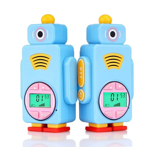Retevis RT36 Kids Walkie Talkies Rechargeable Robot Two Way Radio for Children LCD Display VOX Call Tone LED Flashlight PMR446 License-free (1...