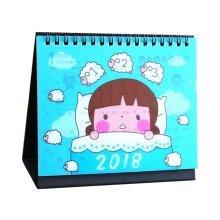 2018 Creative Small Desk Standing Calendar Mini Cartoon Calendar-G