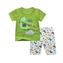 Boys Dinosaur Pajamas Cotton Kids Clothes Short Sets Children Sleepwear