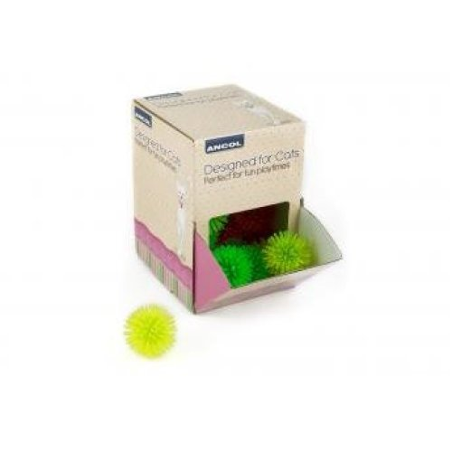 Designed For Cats Display Box Coloured Spiky Balls (Pack of 36)