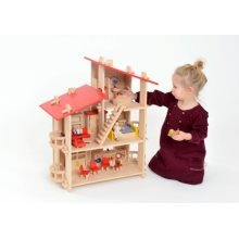 Childrens Multi Level Wooden Dolls House (A39005)