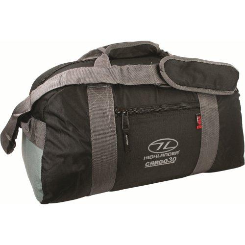 30l Black Cargo Holdall Bag -  highlander cargo holdall 30 black litre bag