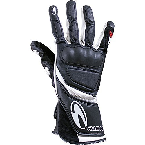 Richa WSS White Leather Sports Summer Racing Motorcycle Gloves