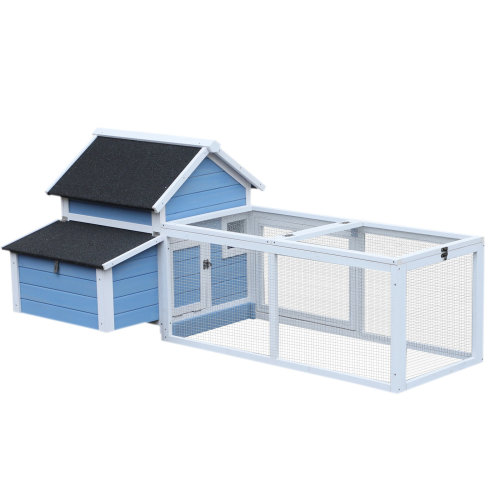PawHut Large Chicken Coop Hen House Poultry Ark Animal Cage Hutch Nest Run Box Cleaning Tray 180 x 90.1 x 78.6 cm