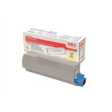 Yellow Genuine Original OKI Toner C5550 MFP C5800 C5900 p/n 43324421 HC