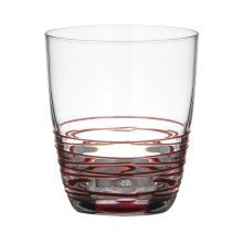 Sevilla Swirl Mixer Glasses - Red, Set of 2