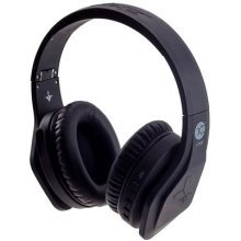 Vibe FLI Over-Ear Wireless Bluetooth Headphones with In-Line Microphone - Black