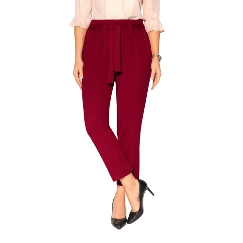 Tapered Leg Paperbag Trousers