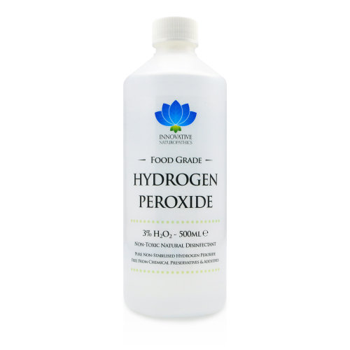 Food Grade Hydrogen Peroxide - Purest Grade 3% - 500ml - Unstabilized and Additive Free - 10 Vols