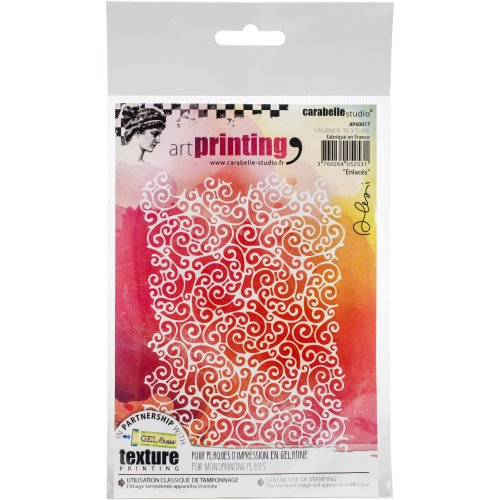 Carabelle Studio Art Printing A6 Rubber Texture Plate-Entwined