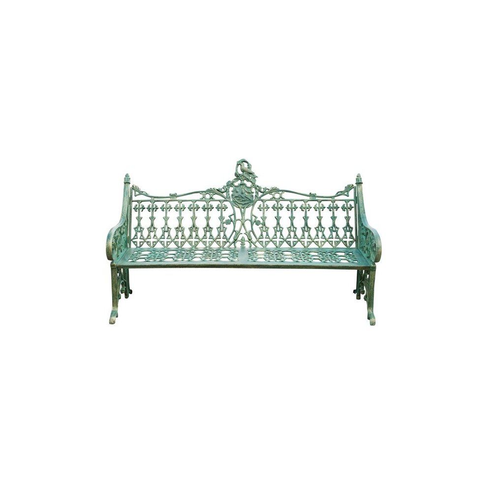 Biscottini International Art Trading w180xdp70xh105 cm sized cast iron made antiqued green finish art nouveau  bench