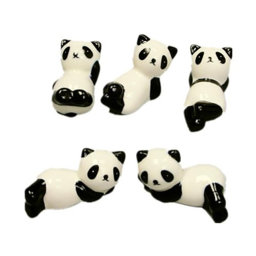 8 Pack of Panda Design Chopsticks Spoons and Forks Holder