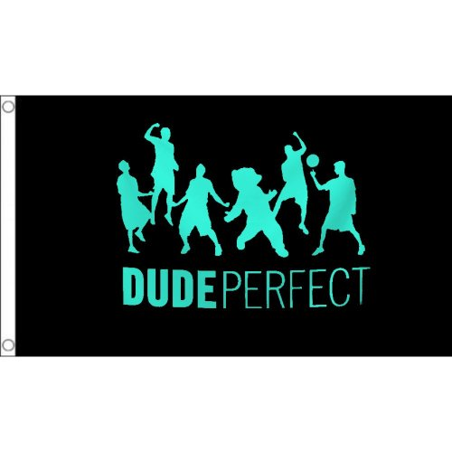 Dude Perfect  logo Flag  Size: 5 x 3 FT ( 150cm x 90cm)