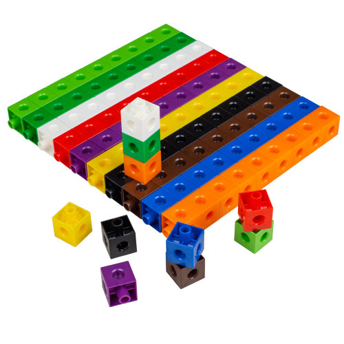 Linking Cubes 2Cm 10 Colours 100-Piece