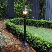 Kingfisher Victorian Black Mains Outdoor Garden Post Light Lamp Post Lantern