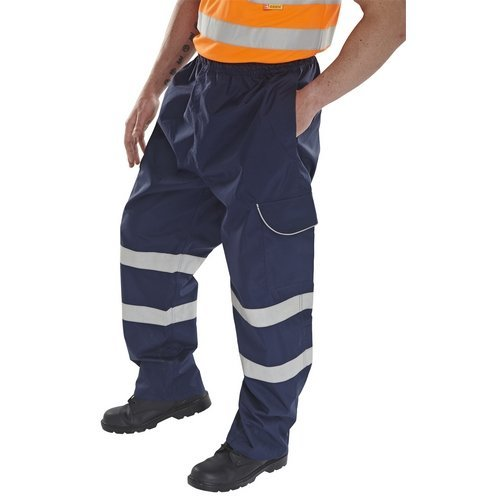 Click BD118NXXL Navy Overtrouser With Reflective Tape XXL