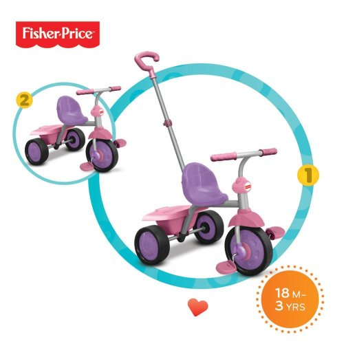 Fisher-Price Glee Trike Baby Tricycle for 18 Months Old, Purple and Pink