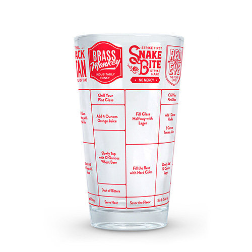 Fred GOOD MEASURE Beer Cocktail Recipe Glass