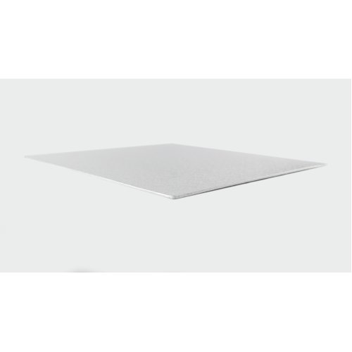 "14"" Thin Silver Square Cake Board 3mm Thick"