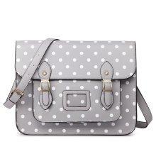 Miss Lulu School Bag Cross Body Messenger Shoulder Satchel Polka Dots