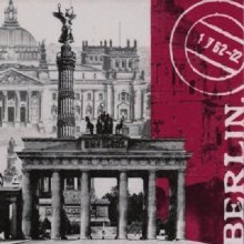 Ti-Flair Pack of 20 Napkins / Serviettes - Global City - Berlin - 33cm x 33cm - 3ply