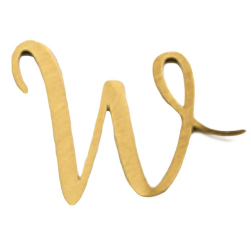 DIY Brass Address Letters Decorative Sign House Numbers Letters, Letter W