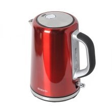 Brabantia 1.7 Litre Soft Grip Kettle Brushed Stainless Steel Red