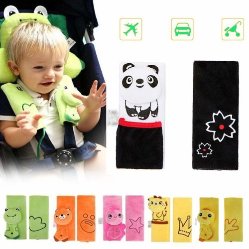 Terrific Double Sided Cartoon Animal Soft Seatbelt Strap Cover For Kids Infant Seat Belt Pad For Baby Carriage Car Black Panda Creativecarmelina Interior Chair Design Creativecarmelinacom