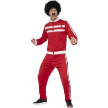 Scouser Tracksuit Mens Fancy Dress 1980s Retro Sports 80s Adult Costume Outfit -  scouser tracksuit fancy dress costume mens outfit retro 80s adults