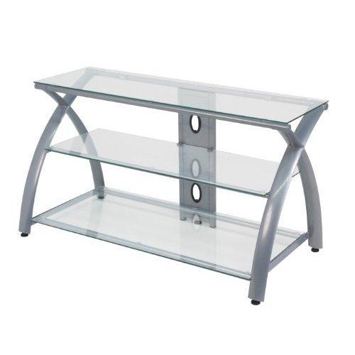 Studio Designs Futura Tv Stand Silver Clear Glass