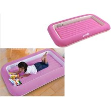 Parkland Pink Flocked Kids Children Safety Inflatable Air Bed Mattress Camping Guests