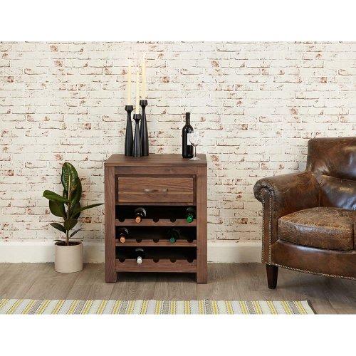 Modern Walnut Wine Rack Cabinet