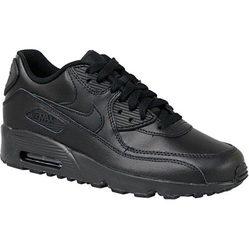 Nike Air Max 90 Lea Gs 833412-001 Kids Black sneakers