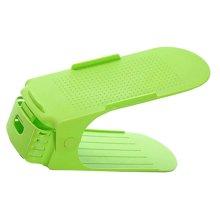 Green One-Piece Double Shoe Rack Shoe Organizer  /Set Of 3