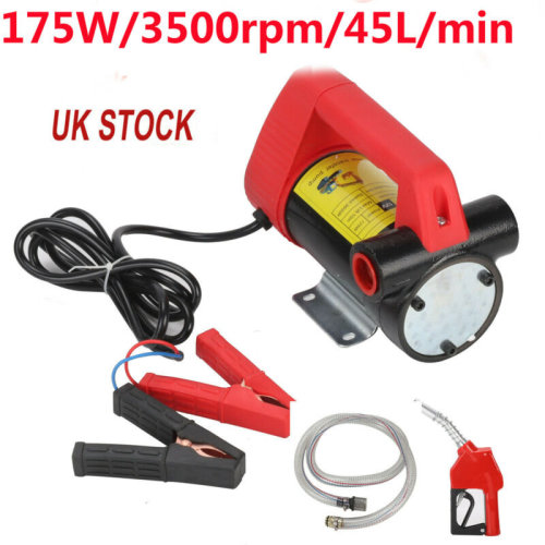 New 12V Diesel Fluid Extractor Electric Transfer Pump Car Fuel Auto Speed UK