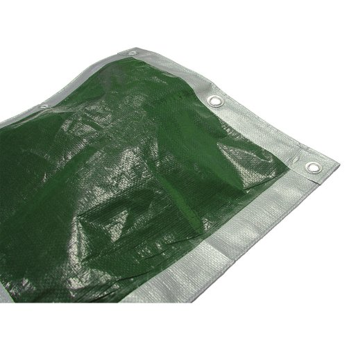Faithfull TARP129 3.6 x 2.7m/ 12 x 9ft Tarpaulin - Green/Silver