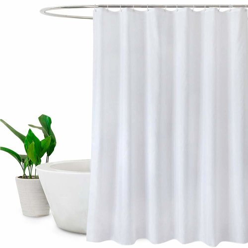 Extra Long Shower Curtains 180 X 210cm Drop 72x 84Mildew Resistant Bathroom Curtain Water RepellantWhite On OnBuy