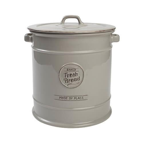 TG Pride of Place Bread Crock Bin Ceramic Grey 18104