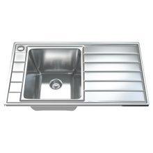 1041 1.0 Single Bowl Stainless Steel Kitchen Sink, Drainer & Waste