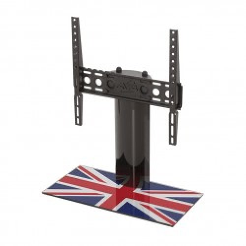 "King Table Top Base Pedestal Stand with Universal Bracket and Union Jack United Kingdom UK Great Britain Flag by TV Furniture Direct (12"" - 55"")"