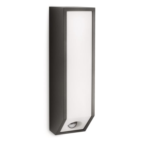 Philips Ecomoods Feather Outdoor Wall Light Anthracite (Includes 1 x 18 Watts E27 Bulb)