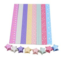 8 Colors Lovely Cute Star Folding Paper 800 Sheets