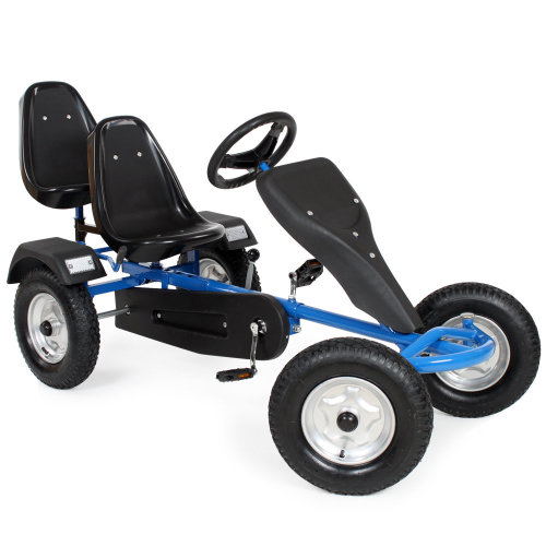 Go kart with 2 seats blue