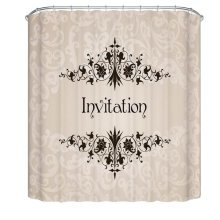 Bathroom Shower Curtains Children Waterproof Shower Curtains [Invitation]