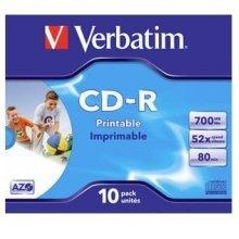 Verbatim CD-R AZO Wide Inkjet Printable CD-R 700MB 10pc(s)