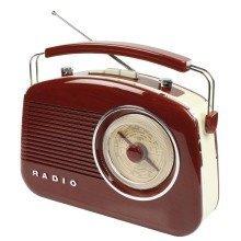 Konig Retro Design Fm Am Stylish Radio - Tr710br - Burgundy/brown